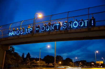 Bridge Protest in Ferguson, Missouri